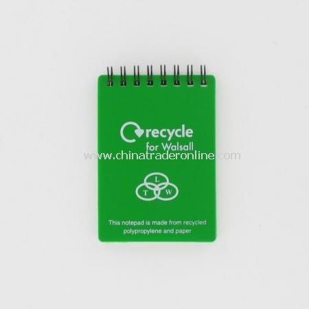 Recycled A7 Polypropylene Cover Notepads