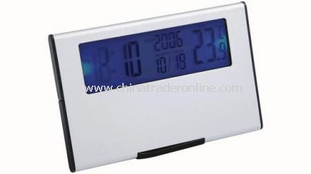 DESK CLOCK WITH TEMPERATURE Alarm clock with snooze function, thermometer, date, nightlight from China