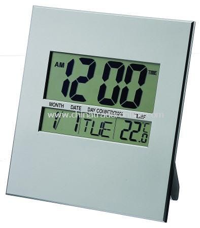 Digital Wall Clock with Calender and Thermometer from China