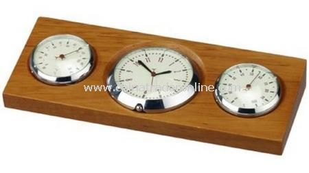 EXECUTIVE WEATHER STATION WITH CLOCK  In gift box