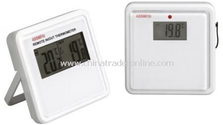RF CONTROL WEATHER STATIONThermometer with radio frequency for in -and outside. Requires