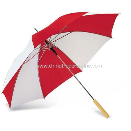 Bi-Colour Umbrella with Wooden Grip