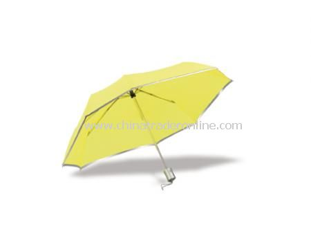 High visibility umbrella with automatic opening and closing, carrying sleeve included (D)