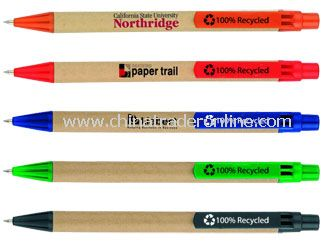Recycled Paper Clik Pen from China