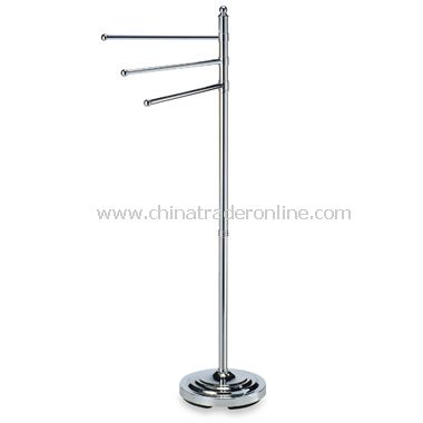 3-Arm Chrome Towel Stand