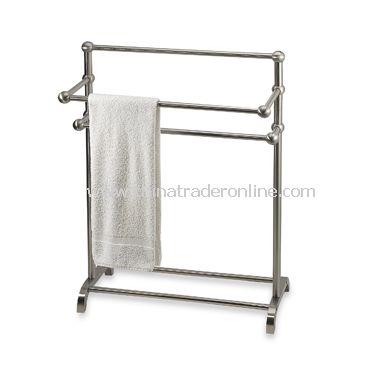 3-Tier Satin Nickel Towel Stand
