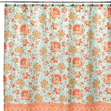 Amy Butler Bloom Fabric Shower Curtain