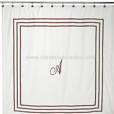 Aussino Monogram Fabric Shower Curtain