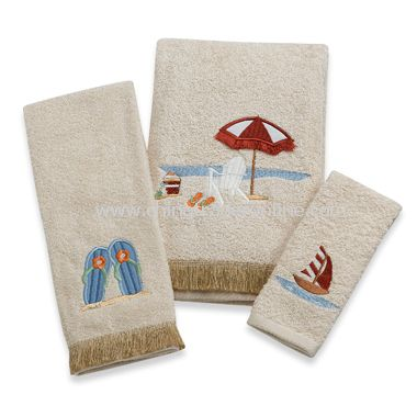 Beach Bum Bath Towels by Saturday Knight Limited, 100% Cotton