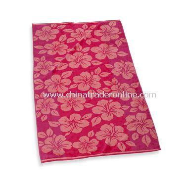 Hibiscus 34 x 64 Beach Towel, 100% Cotton
