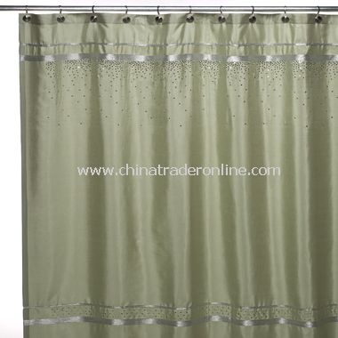 Croscill Glow Fabric Shower Curtain - Mint