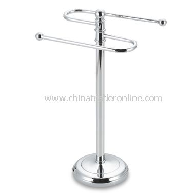 Curved Chrome Fingertip Towel Tree