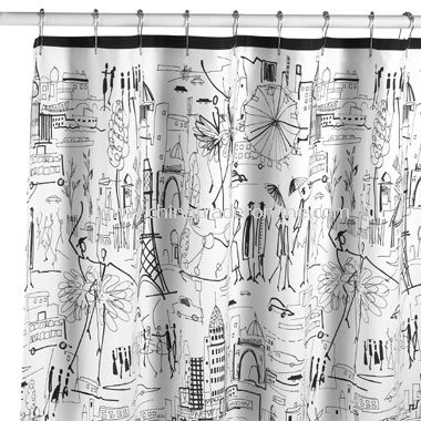Dancing in the Street Fabric Shower Curtain