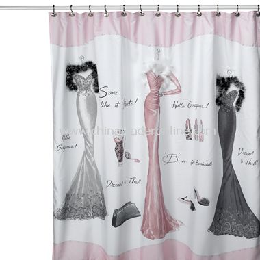 Dressed to Thrill Shower Curtain from China