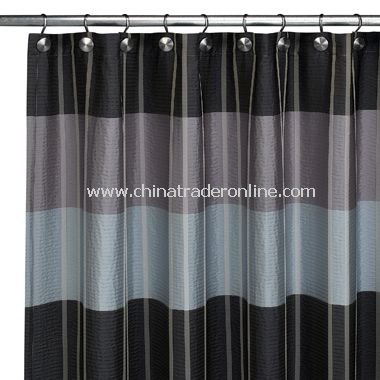 Fairfax Slate Fabric Shower Curtain by Croscill from China