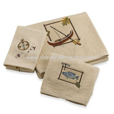 Fishing Bath Towels by Saturday Knight Limited, 100% Cotton
