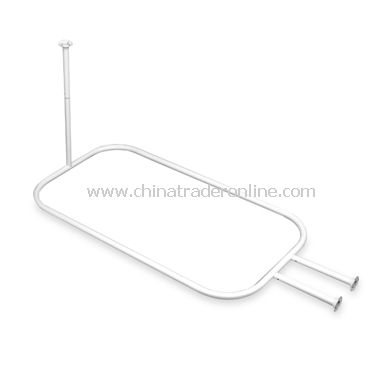 Freestanding Claw Foot Tub White Hoop Shower Rod