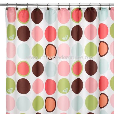Go See Dots Fabric Shower Curtain