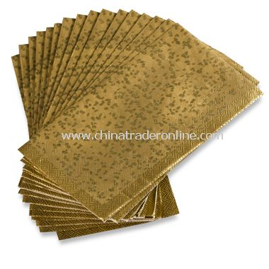 Gold Rush Disposable Buffet/Guest Towels by Nicole Miller (Set of 16)