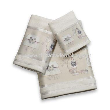 Haute Couture Bath Towels, 100% Cotton Velour