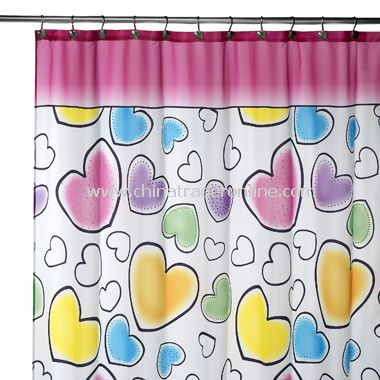 I Heart You Fabric Shower Curtain From China