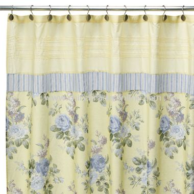 Laura Ashley Caroline Fabric Shower Curtain