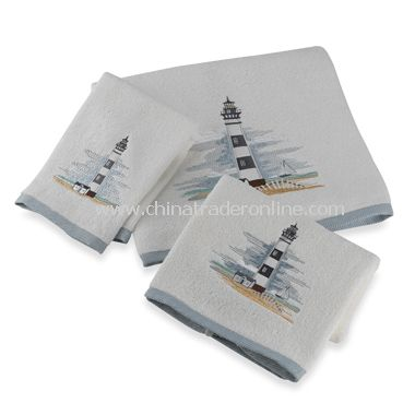 Lighthouse Bath Towels by Saturday Knight Limited, 100% Cotton