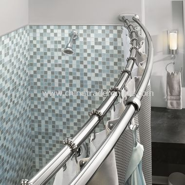 Good Moen Adjustable Double Curved Chrome Shower Rod