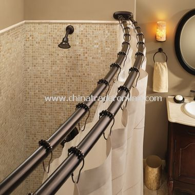 Moen Oil-Rubbed Bronze Double Curved Shower Rod