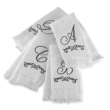 Monogram Fingertip Towels by Avanti, 100% Cotton