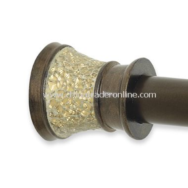 morillo decorative shower tension rod gold