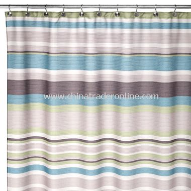 wholesale Nassau Peacock Blue Fabric Shower Curtain-buy discount ...