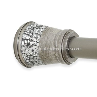 Omni Decorative Shower Tension Rod - Pewter