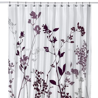 DKNY Home Graffiti Floral Fabric Shower Curtain,Juliet Shower ...
