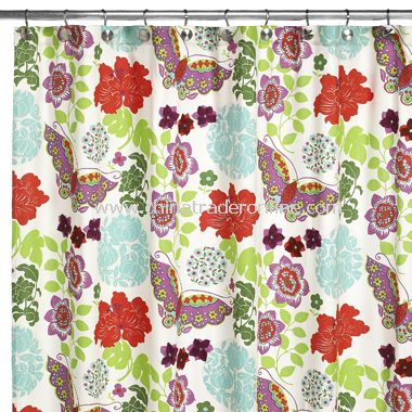 wholesale Retro Floral Fabric Shower Curtain by Croscill-buy ...