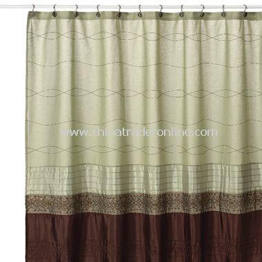 Romana Green Fabric Shower Curtain