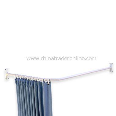 Shower Stall White L Shaped Rod