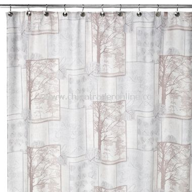 Solitude Fabric Shower Curtain from China