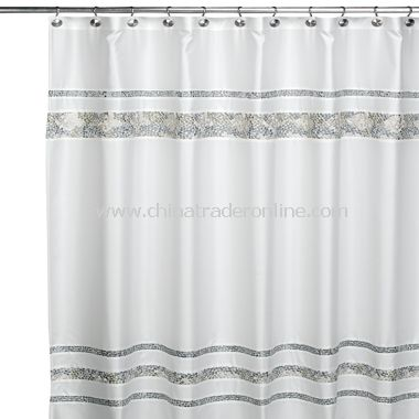 Spa Tile Fabric Shower Curtain