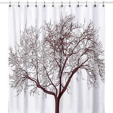brown and white shower curtain. Tree Brown Fabric Shower Curtain from China wholesale buy discount