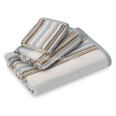 Urban Stripe Blue Washcloth