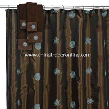 wholesale Croscill Glow Fabric Shower Curtain - Aqua-buy discount ...