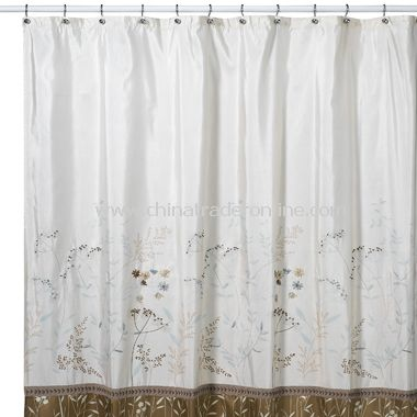 Shower Curtains cotton shower curtains : Danielle Fabric Shower Curtain,DKNY Home Graffiti Floral Fabric ...