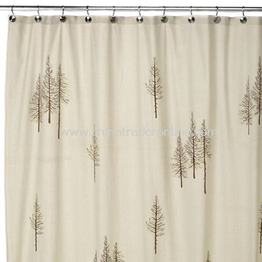 Winter White Fabric Shower Curtain from China