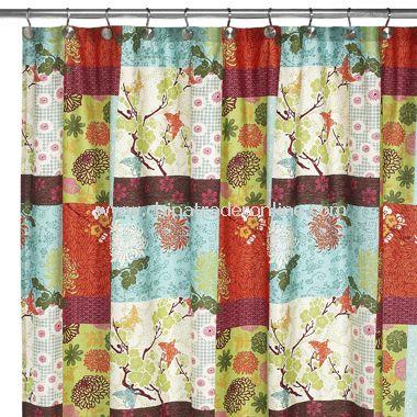 Yoko Fabric Shower Curtain from China
