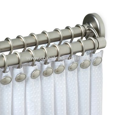 Zenith Satin Nickel Double Tension Rod
