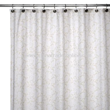 Curtains Ideas black cloth shower curtain : 2-in-1 Victorian Fabric Shower Curtain - White/Silver,2-in-1 ...
