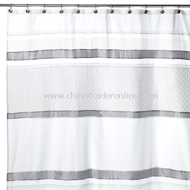 white and silver shower curtain. Arcadia White Fabric Shower Curtain from China wholesale buy discount
