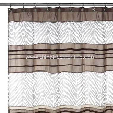 B. Smith Bengalese Fabric Shower Curtain