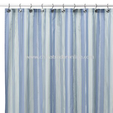 Baja Stripe Cape Cod Fabric Shower Curtain
